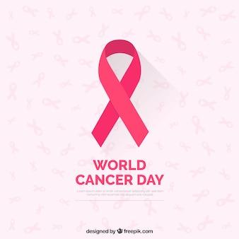 Fond de journée mondiale du cancer plat