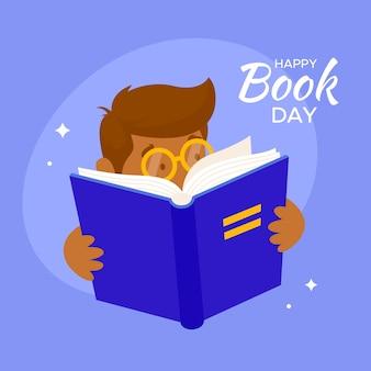 Fond de journée mondiale du livre plat