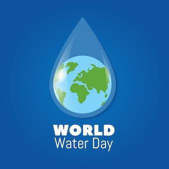 Fond de la journée mondiale de l'eau