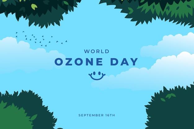 Fond de journée mondiale de l'ozone dessiné à la main