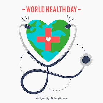Fond de la journée mondiale de la santé