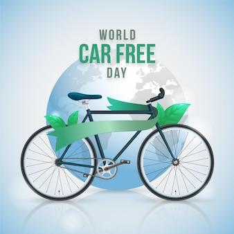 Fond de journée sans voiture du monde réaliste