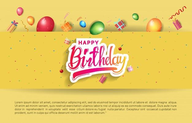 Fond de joyeux anniversaire, bannière, affiche, invitation et carte de voeux