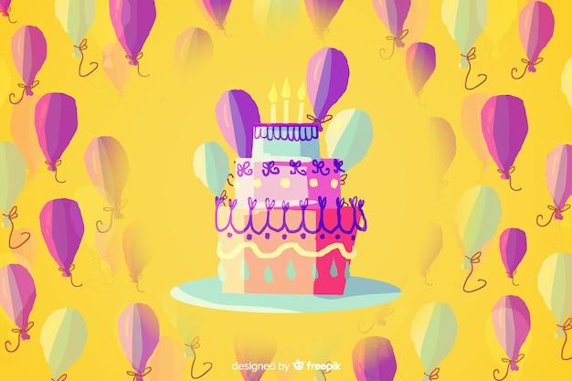 Fond de joyeux anniversaire dans un style aquarelle