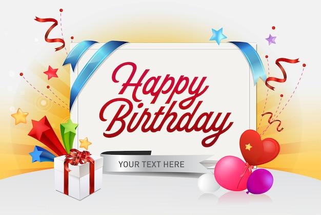 Fond de joyeux anniversaire pour la bannière, l'affiche, la fête d'invitation