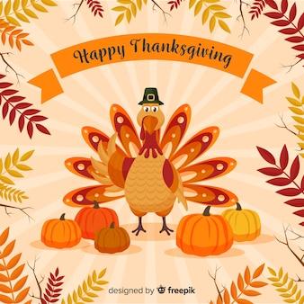 Fond de joyeux jour de thanksgiving turquie