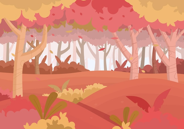 Fond de jungle de dessin animé fantastique. illustration vectorielle.