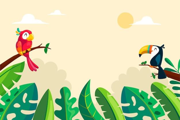 Fond de jungle de dessin animé