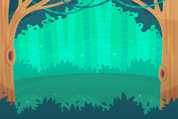 Fond de jungle détaillé