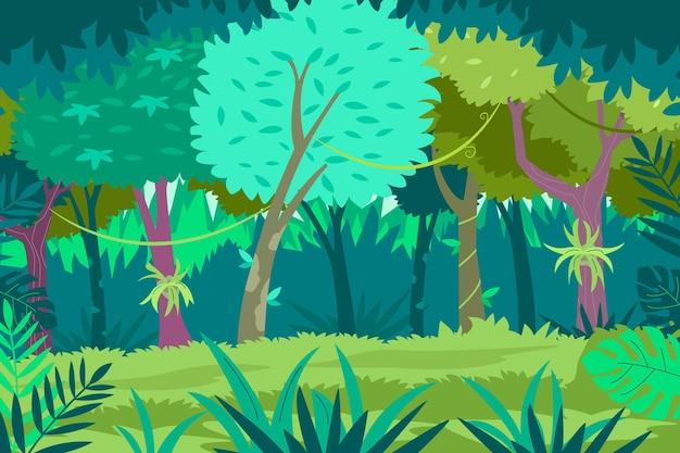 Fond de jungle plat organique