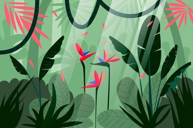 Fond de jungle plat