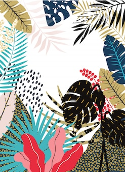 Fond de la jungle