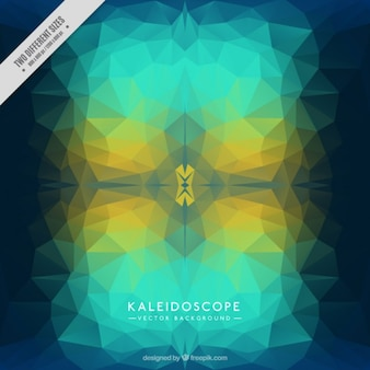 Fond kaleidoscope dans des tons bleus