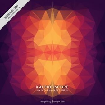 Fond kaleidoscope dans des tons rouges