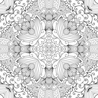 Fond de kaléidoscope jolie avec des motifs floraux