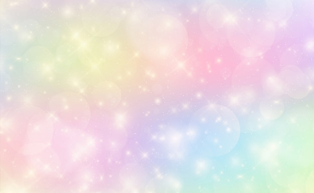 Fond kawaii avec dégradé de princesse arc-en-ciel.