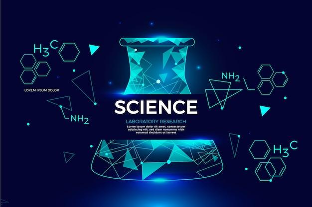 Fond de laboratoire de science futuriste