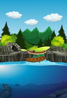 Un fond de lac nature