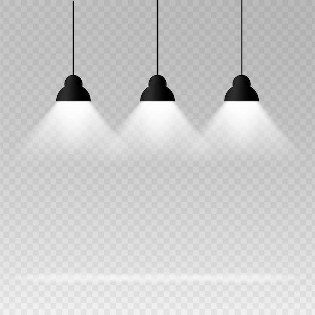Fond avec lampe d'éclairage.