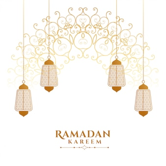 Fond de lanterne islamique ramadan kareem décoratif
