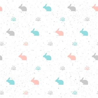 Fond de lapin. lapin abstrait gris, bleu et rose pour carte, invitation, album, album, papier d'emballage de vacances de pâques, tissu textile, vêtement, etc. thème des animaux de la ferme.