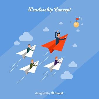 Fond de leadership dans un style plat