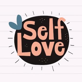 Fond de lettrage d'amour de soi