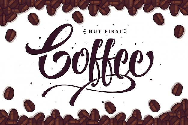 Fond de lettrage de café