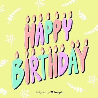Fond de lettrage coloré joyeux anniversaire