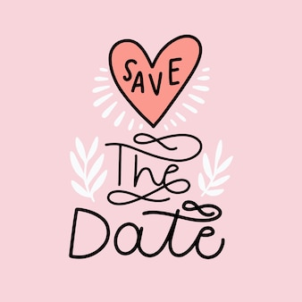 Fond de lettrage enregistrer la date