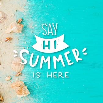 Fond de lettrage d'été