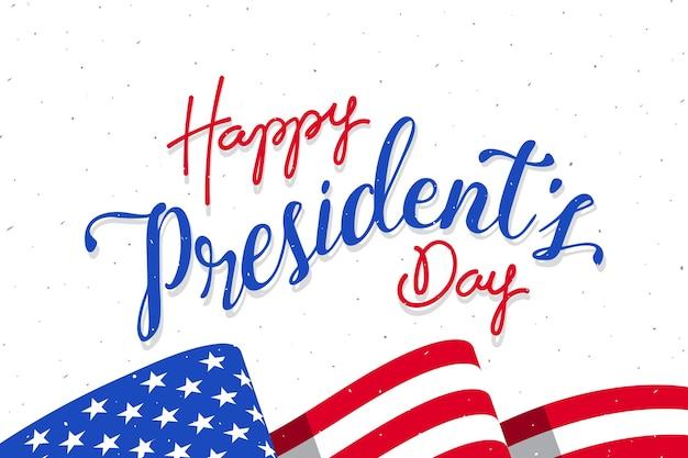 Fond de lettrage d'événement de la journée du président