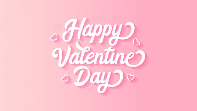 Fond de lettrage happy valentine's day
