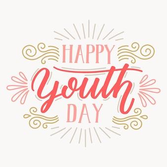 Fond de lettrage de la journée de la jeunesse