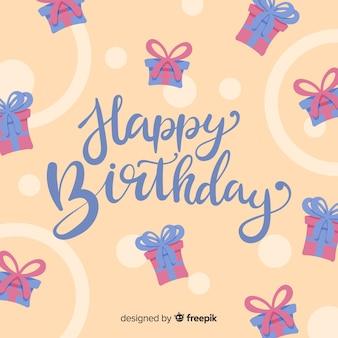 Fond de lettrage joyeux anniversaire créatif