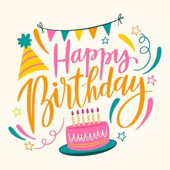 Fond de lettrage joyeux anniversaire