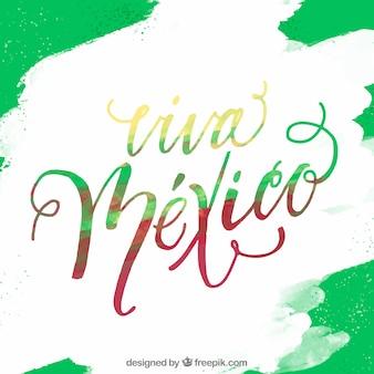 Fond de lettrage vert viva mexico