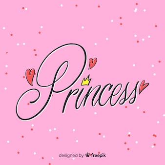 Fond de lettres princesse