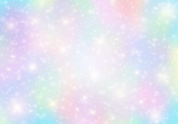 Fond de licorne holographique