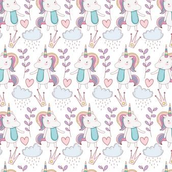 Fond de licornes fantasay