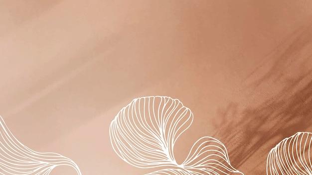 Fond de ligne abstraite marron