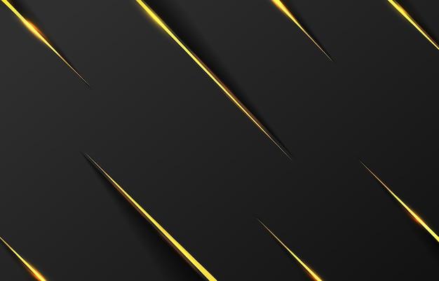 Fond de ligne diagonale or noir