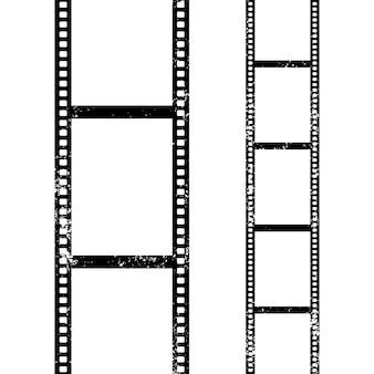 Fond de ligne de film rétro