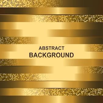 Fond de ligne géométrique abstraite avec effet de paillettes d'or