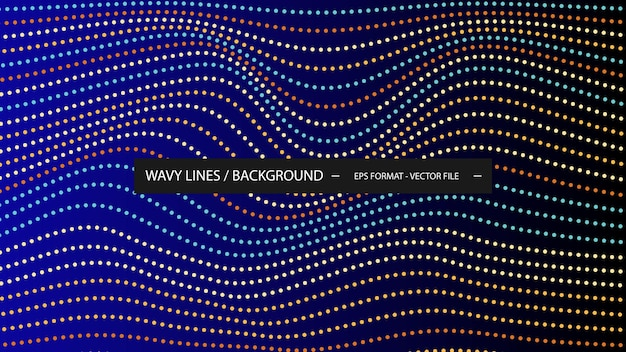 Fond de ligne ondulée en pointillé coloré