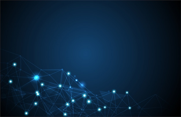 Fond de ligne de réseau
