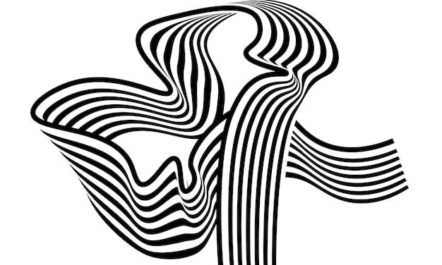 Fond de ligne vague noir et blanc simple. conception simple pour les fonds d'écran.