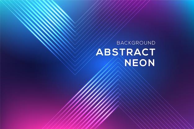 Fond de lignes abstraites au néon