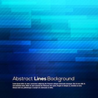 Fond de lignes abstraites bleues.