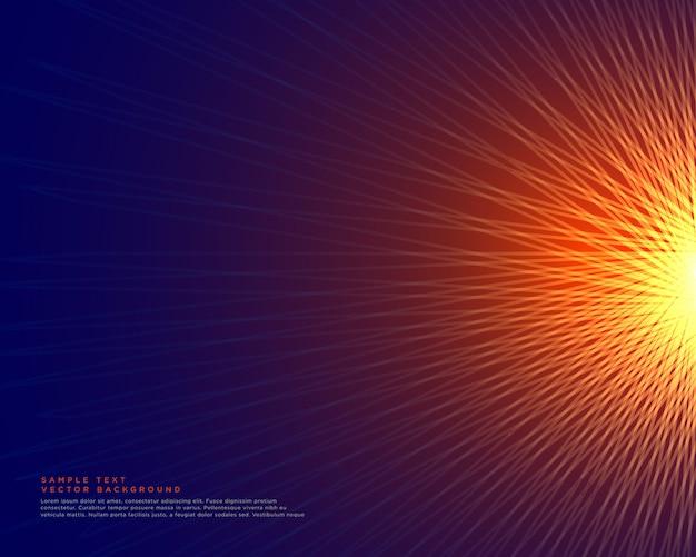 Fond de lignes abstraites faisant une forme de style de soleil rougeoyante
